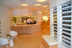 Vista de la cocina del restaurante.